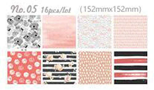 - 6 inch scrapbooking paper set 16 decoupage papers vintage paper pad for card making origami papers