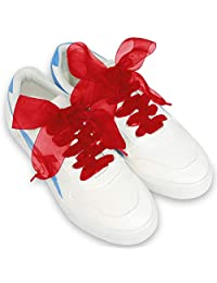 lorpops Shoe Laces, Soft Casual Flat Satin Ribbon Shoelaces Sneaker Shoestrings