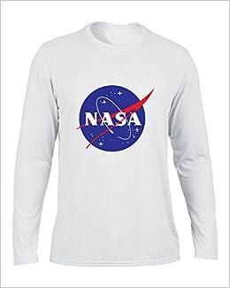 bb5fb8ae1235b4 Amazon.com  DLQUEEN Men s NASA Logo Long Sleeve T-shirt Long Shirt White X-large  (0717294054007)  Books