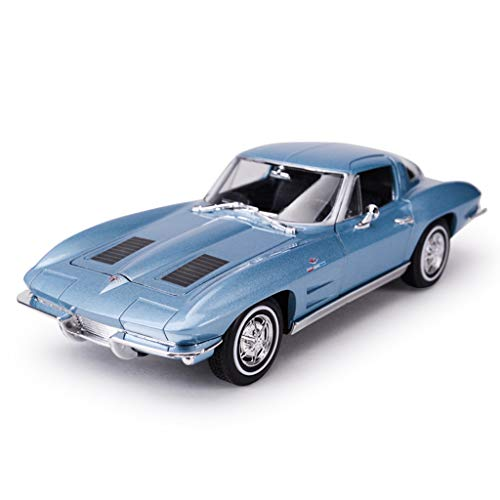 XINGPING-TOY 1:24 Chevrolet Corvette Stingray Bumblebee Static Simulation Alloy Car Model Gift (Color : Blue)