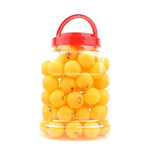 eDealMax Sport Ronde Table de jeu en Forme de balles de Tennis de ping-Pong 40mm Dia 60pcs Orange Noir by eDealMax