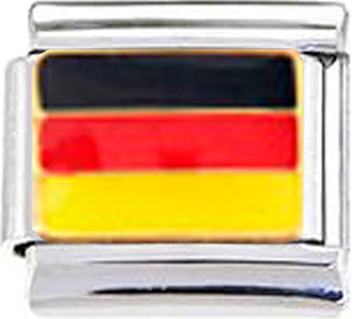 ny German Flag Enamel Italian 9mm Link PE012 ()