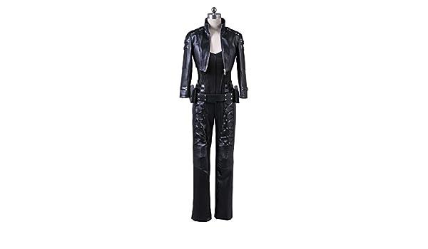 Tienda de fantasía para mujer Cosplay disfraz negro PU Pleather ...