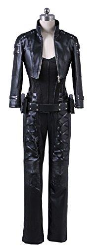 Corset Costumes Custom (Fantasy Shop Womens Cosplay Costume Black PU Pleather Outfit (Custom)