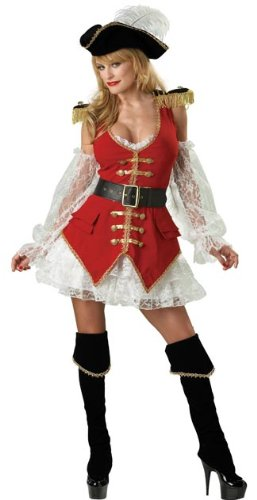 Pirate Treasure Costume - Large - Dress Size 10-14 (Convict Lady Plus Size Costume)