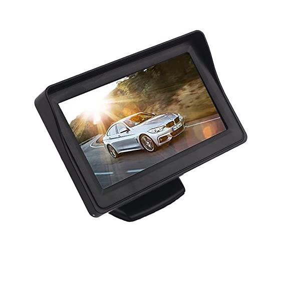 SUNRISE 4.3 Inch TFT LCD Color Display Car Rear View 180 Degree Adjustable Monitor Screen