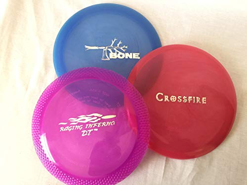 QuestAT Starter Frisbee Disc Golf Discs Beginners 3 Piece Set - Putter, Midrange, and Driver - PDGA Approved - Made in The USA of Recycled Material (Colors May Vary)