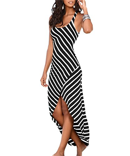 pqdaysun Womens Sundress Sleeveless Stripes product image