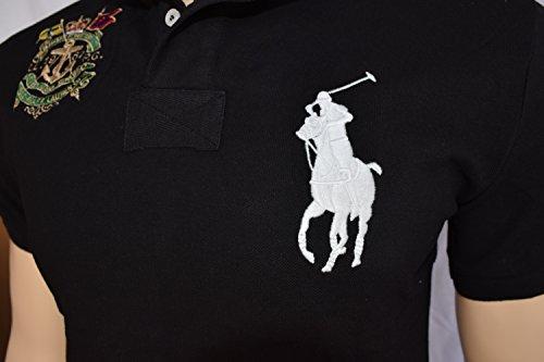 Polo Ralph Lauren Men's White Big Pony, White #3 Short Sleeve Shirt Black (S - U.S. standard size)
