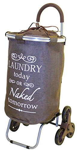 stair-climber-laundry-trolley-dolly-brown-laundry-bag-hamper-basket-cart-with-wheels-sorter