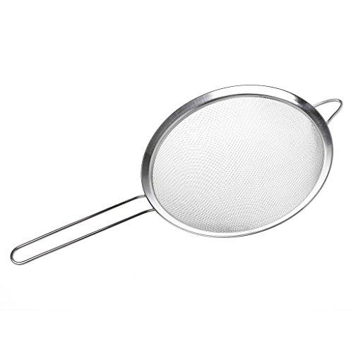 Tebatu Kitchen Stainless Steel Flour Tea Strainer Mesh Colander Sieve Filter Sifter 20