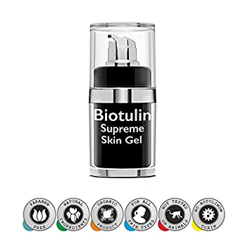 The Original Biotulin Supreme Skin Gel – Anti Aging Treatment – Anti Wrinkles Facial Lotion – Look Younger Within 60 Minutes – Leading Skin Care Product – Made in Germany – Wrinkle Filler and Plumper