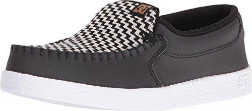 DC – Womens Villain SE Skate Shoes, Size: 9 B(M) US, Color: Black/White/Gold