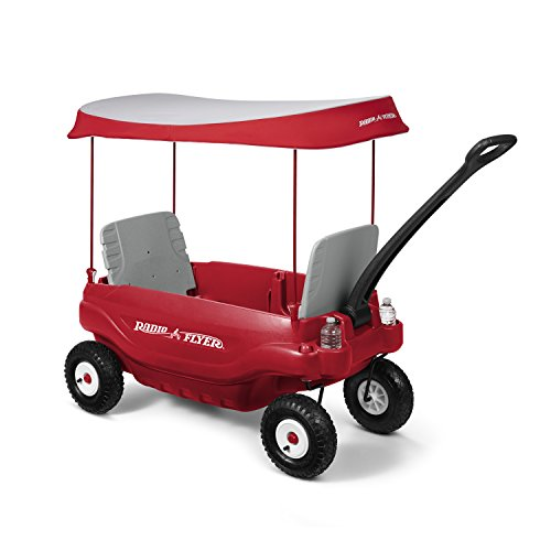 (Radio Flyer Deluxe All-Terrain Family Wagon Ride On, Red)