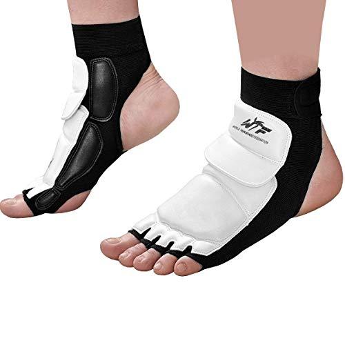 Taekwondo Foot Protector Gear Martial Arts Fight, White, Size Large