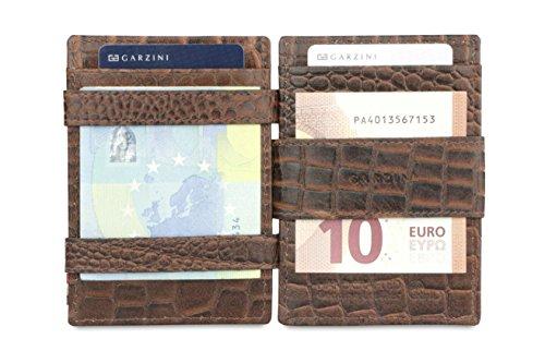 Garzini Plus Leather Magic RFID Wallet Magistrale Brown Croco Croco rSfrqgn