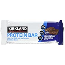 Protein Bar Kirkland Signature delicious energy variety (total 20 pack: 10 Chocolate Chip Cookie Dough, 10 Chocolate Brownie) Gluten Free, Real Chocolate, 15g of Fiber 2.12 oz (20 Count)