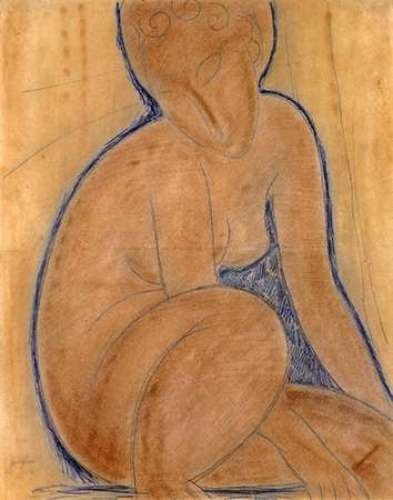 "Crouched Nude by Amedeo Modigliani - 19"" x 24"" Giclee Canvas Art Print"