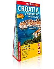 Croatie & Montenegro, Adriatic Coast : 1/300 000