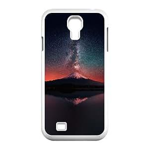 Samsung Galaxy S4 9500 Cell Phone Case White_Milky Way On Dark Mountain Fuji Sky Pevgj