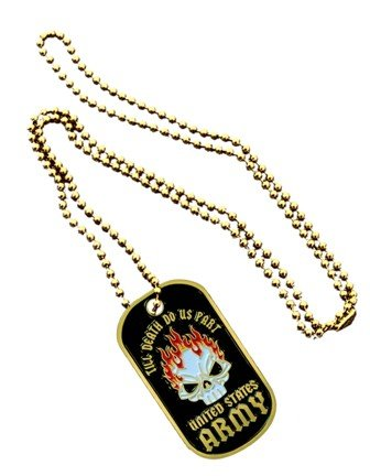 United States Armed Forces Army Till Death Do Us Part Flaming Skull