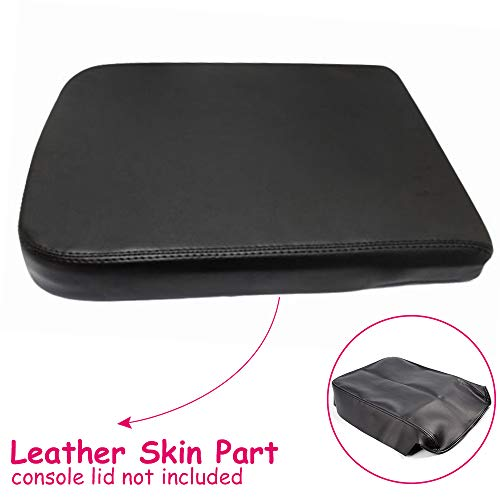 Gplus New Leather Armrest Center Console Lid Cover Skin for Dodge Ram 2002-2008 Black 2003 04 05 06 07 ()