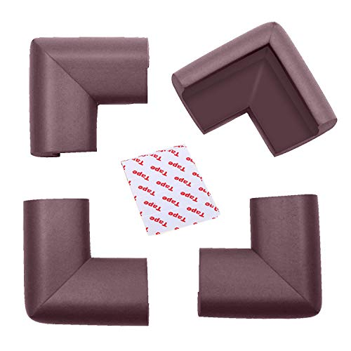 Kuershuang Corner Protectors Thick Proofing Edge& Corner Cushion,Best Baby Proof Corner Guards Against Sharp Corners Tables Furniture (4-Pack)