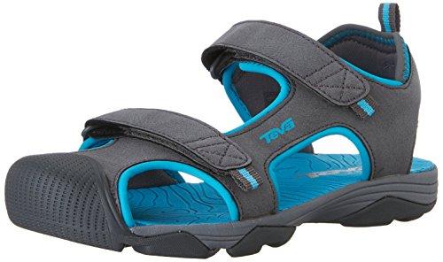 Teva Toachi Closed Toe Sandal (Little Kid/Big Kid), Dark Grey/Blue-T, 4 M US Big Kid (Teva Sandals Kids compare prices)