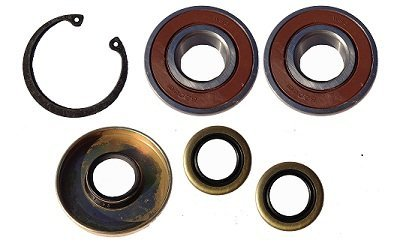 MERCRUISER BRAVO PLASTIC PUMP BEARINGS AND SEALS WITH SNAP RING fITS BELT DRIVEN OLDER PUMPS WITH 5/8