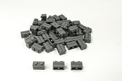 New Lego Modified 1 x 2 Dark Bluish Gray Brick with Masonry Profile (New 2x2 Lego)