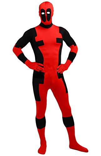 [Seeksmile Unisex Lycra Spandex Zentai Halloween Cosplay Costumes (XX-Large, Aults A)] (Fedex Man Costume)