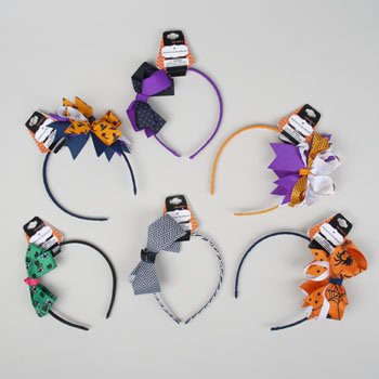 Set of 12 Stylish Halloween Headbands! Adorable One Size Fits All Halloween Themed Headbands! (12)