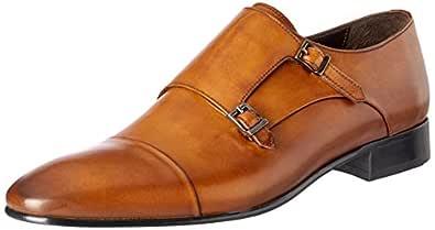 Brando Men's Patrick Lace-Up Flats Shoes, Monk Silver, 44 EU