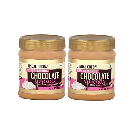 JINDAL COCOA Almond Spread 320 Gram - Pack of 2