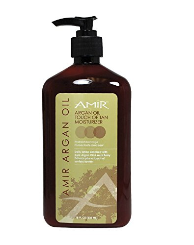 Amir Touch of Tan Moisturizer with Argan, 18 Fl (Sun Kissed Facial Moisturizer)