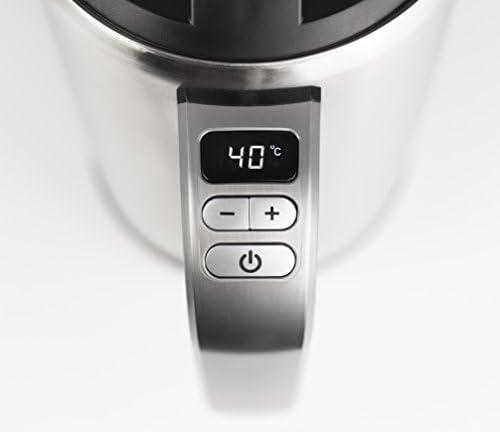 CASO WK Cool Touch Bouilloire en acier inoxydable avec réglage de la température, boîtier à double paroi qui ne chauffe pas à l'extérieur, économique, 1800 W