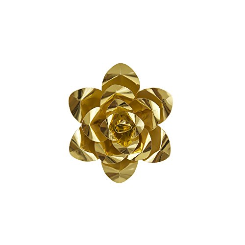 "Mega Crafts 8"" Handmade Paper Flower in Metallic Gold 