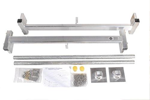 Dock Edge Aluminum Hybrid Floating and Stationary Dock Kit, 4x8-Feet ()