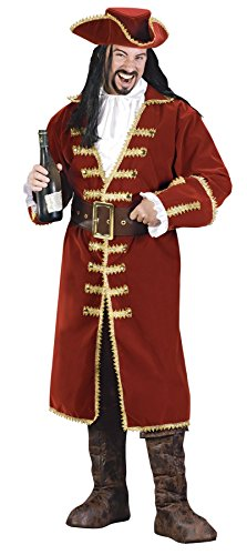 GTH Men's Pirate Captain Morgan Blackheart Fancy Costume, One Size (Up To 46) - Captain Morgan Pirate