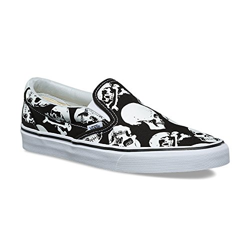 Vans Unisex Skulls Slip-Ons Black/True White Sneaker - 8.5 - Mens 5 Eye Padded Collar
