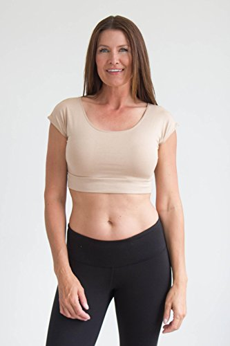 Halftee Modal Basic Crop Top - Modest - Comfortable Layering Top