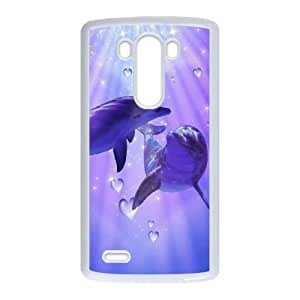 Dolphin LG G3 Cell Phone Case White DIY Ornaments xxy002-3666630