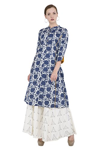 Lagi Designer Women's Cotton Straight Printed Kurta Indian Tunic Top Womens Printed Blouse India Clothing by Small ()