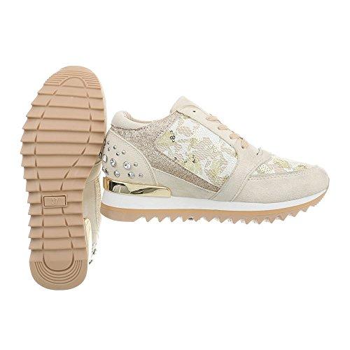 Design Plataforma 123 Beige Zapatillas G Altas Mujer para Zapatos Ital Zapatillas dvCXqd