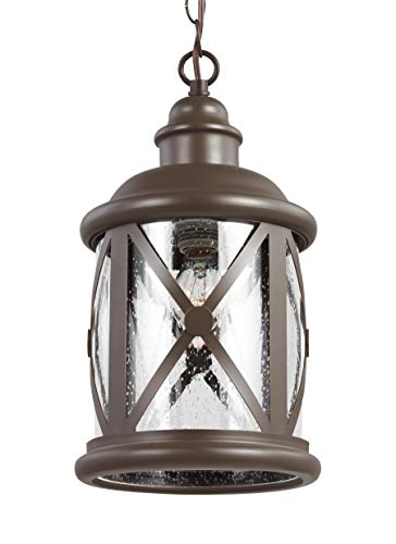 Sea Gull Lighting 6221401-71 One 6221401-71-One Light Outdoor Pendant, Antique Bronze