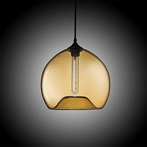 Blown Glass Globe Pendant Light - 2