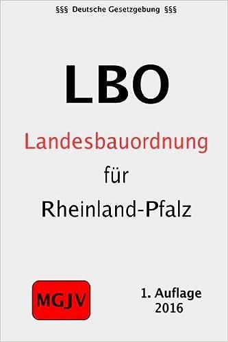 Landesbauordnung Rheinland Pfalz Amazon De Groelsv Verlag