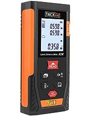 Tacklife HD 40 Klassischer Laser-Entfernungsmesser Distanzmessgerät (Messbreich 0,05~40m/±2mm mit 2 Level Blasen Messeinheit m/in/ft mit Hintergrundbeleuchtung)