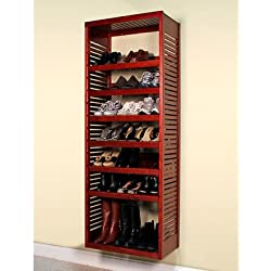 John Louis Home JLH-615 Deluxe Stand Alone Tower, Red Mahogany