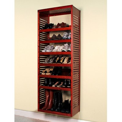 John Louis Home JLH-615 Deluxe Stand Alone Tower, Red - Deep Stand Alone Rack